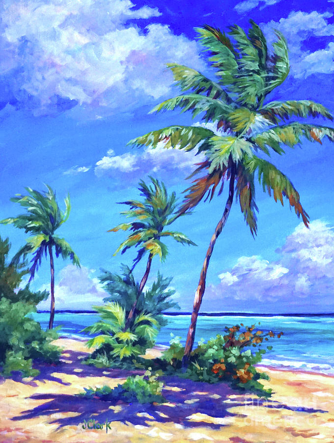 Beach At Bodden Town Painting