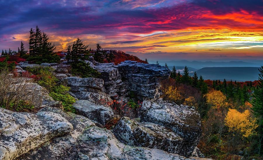 Bear Rocks Sunrise Photograph
