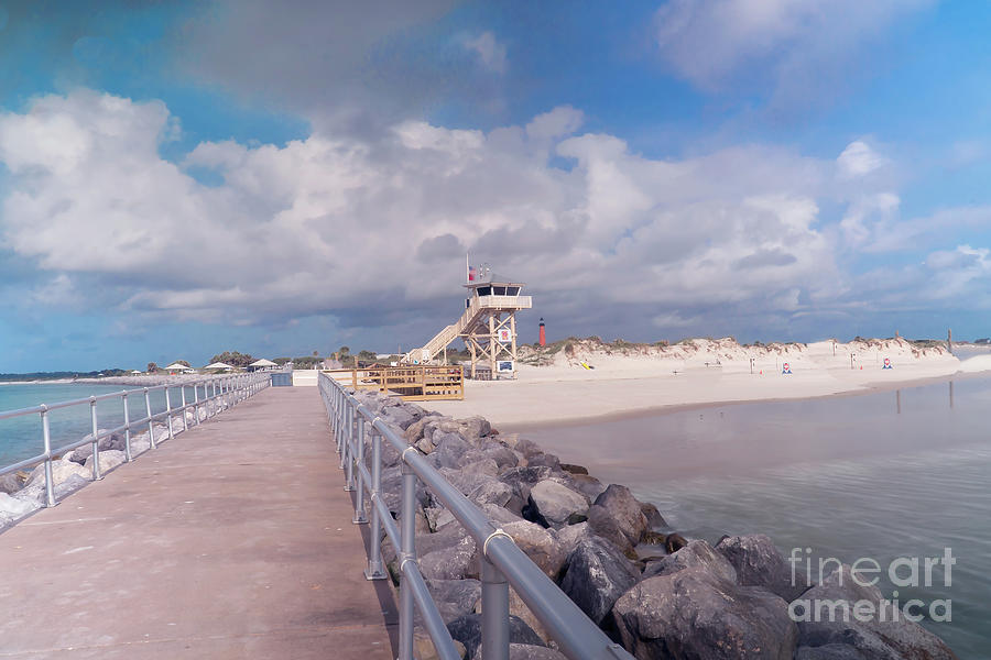 Beautiful Beach Central Florida And The Atlanitic Ocean At Ponce Point Photograph