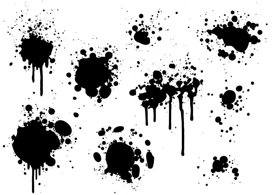 Black paint splatters Drawing by Enjoynz