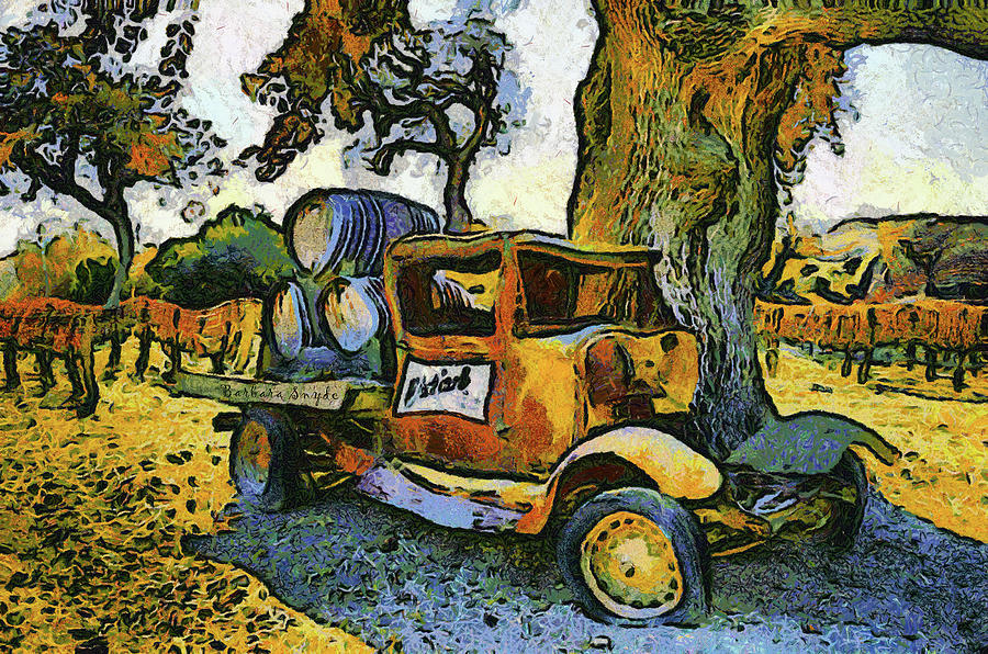 Blackjack Winery Truck Santa Ynez California Photograph