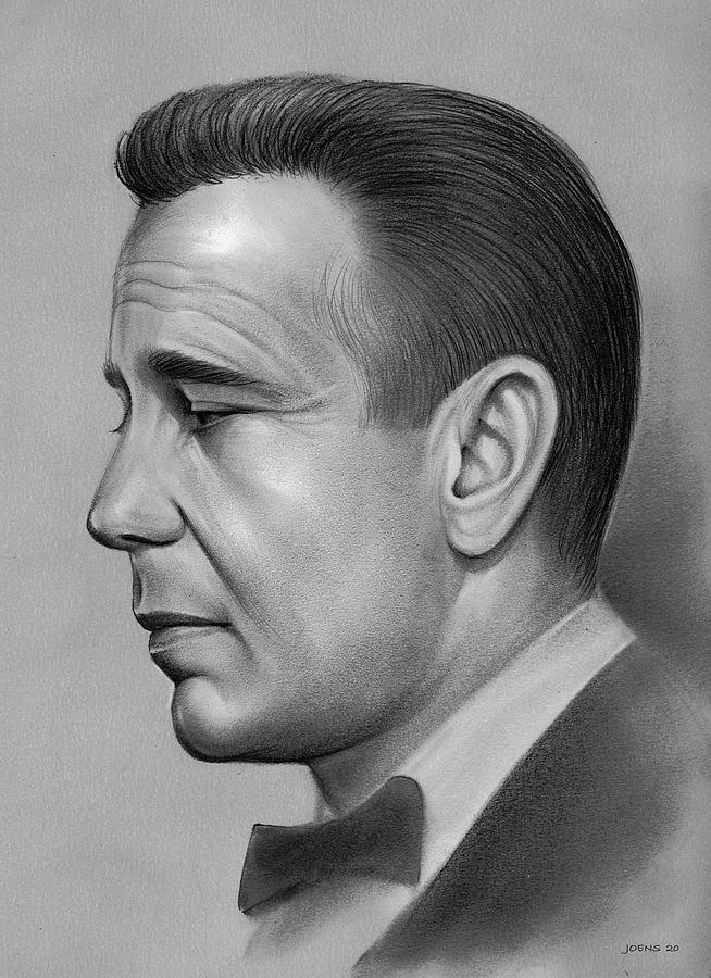 Humphrey Bogart Drawing - Bogart by Greg Joens