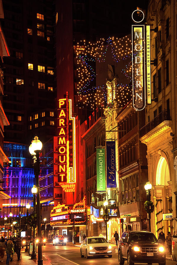 Boston Theatre District by Joann Vitali