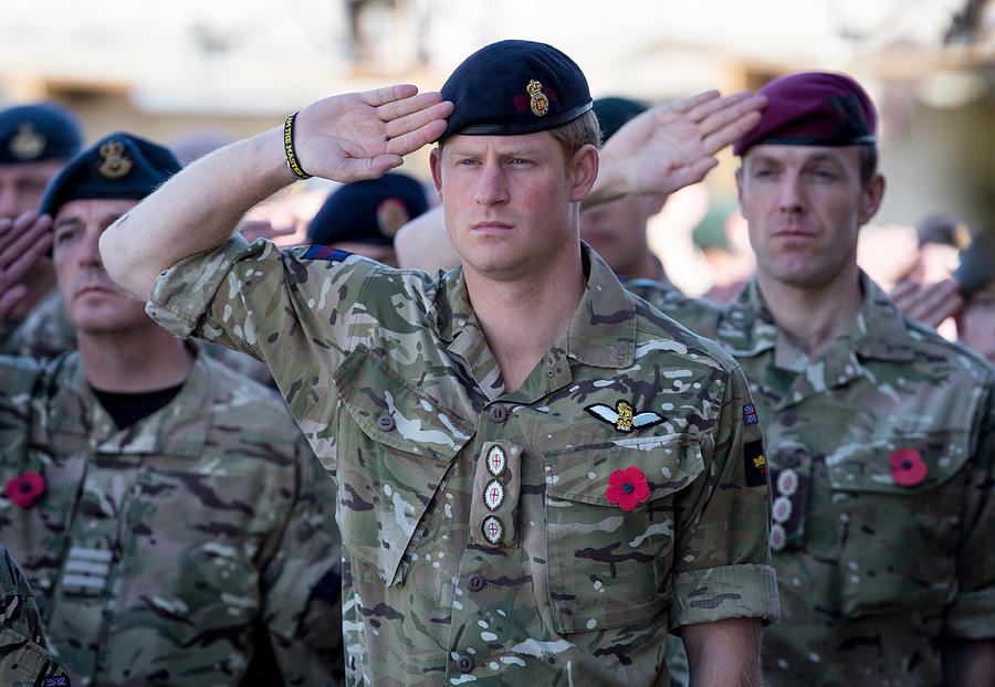 British Troops In Kandahar Participate In A Remembrance Sunday Service Photograph by Matt Cardy