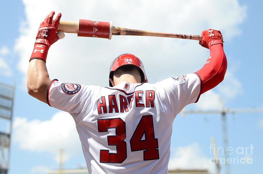 Bryce Harper Photograph by Greg Fiume