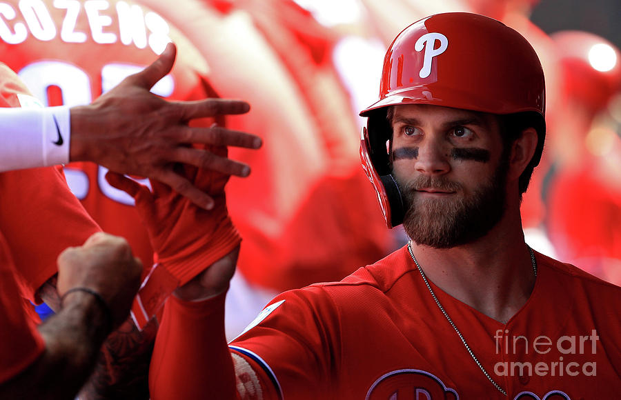 Bryce Harper Photograph by Mike Ehrmann
