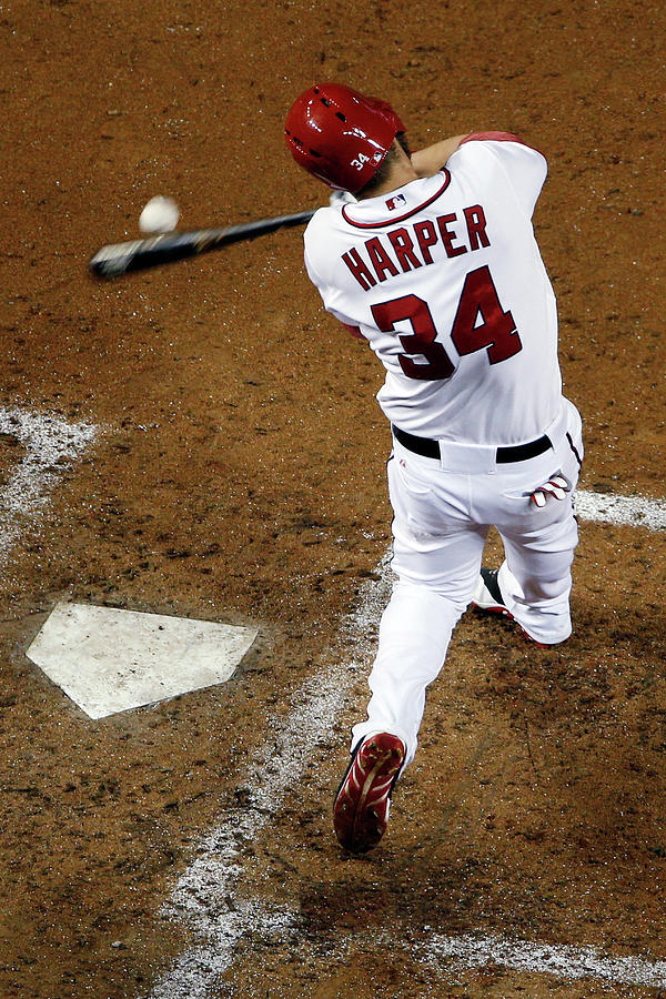 Bryce Harper Photograph by Rob Carr