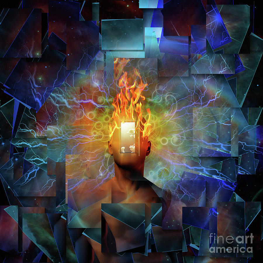 Burning Mind Digital Art
