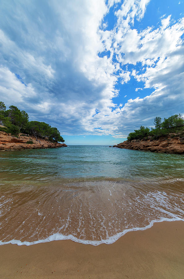 Color Photograph - Calafat Beach In Tarragona by Vicen Photography