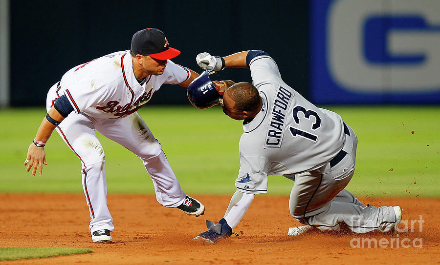 Carl Crawford and Martin Prado Photograph by Kevin C. Cox
