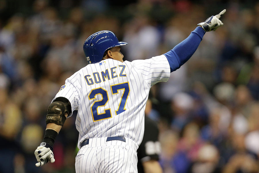 Carlos Gomez Photograph by Mike Mcginnis