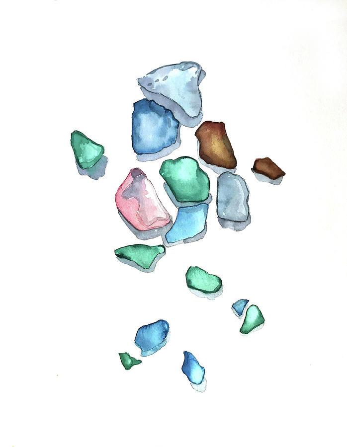 Carmel Sea Glass Painting