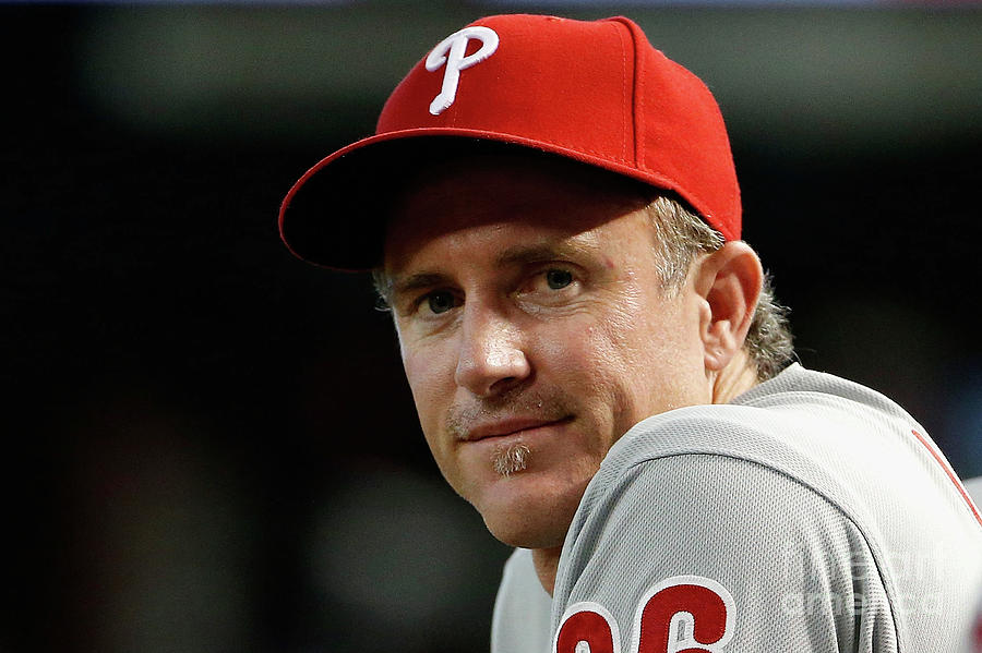 Chase Utley Photograph by Christian Petersen