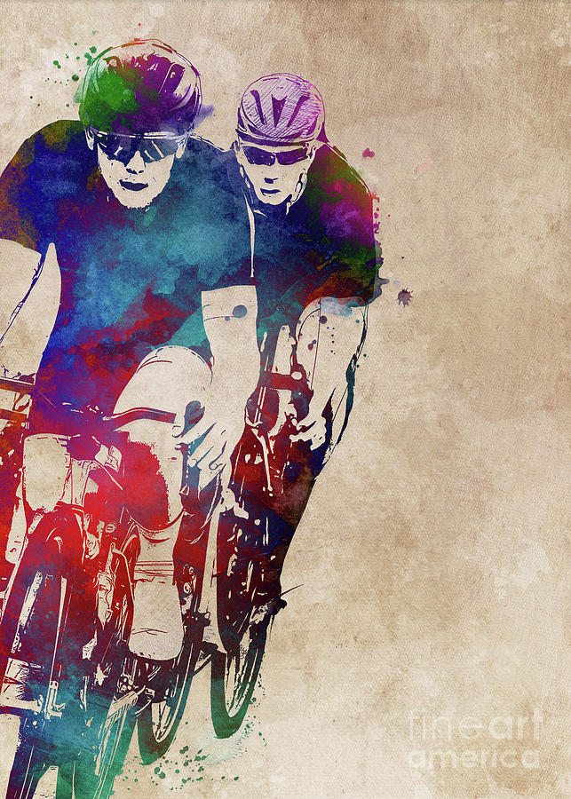 Cycling #cycling #sport #bike Digital Art