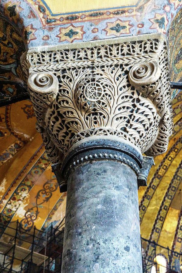 Deeply undercut Corinthian columns  by Steve Estvanik