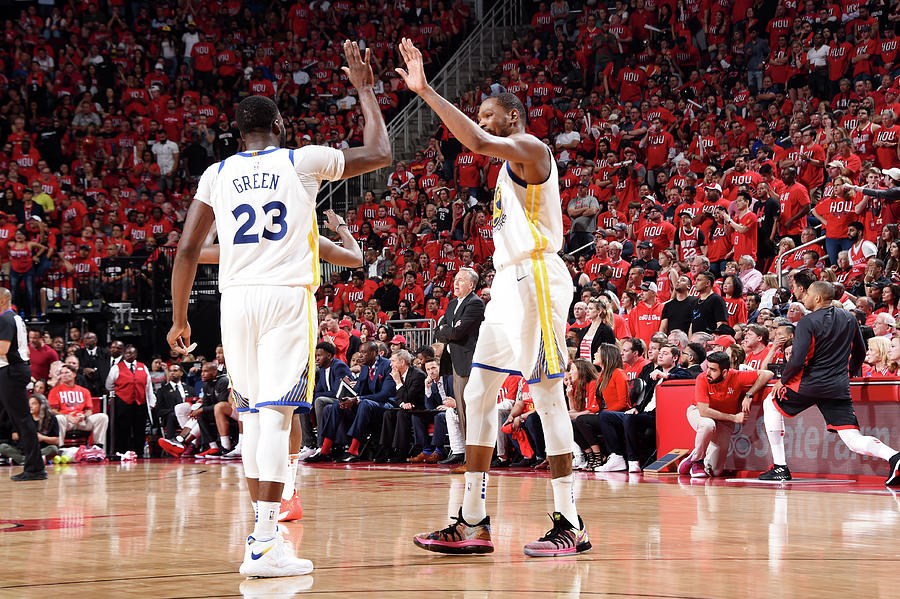 Draymond Green and Kevin Durant Photograph by Andrew D. Bernstein