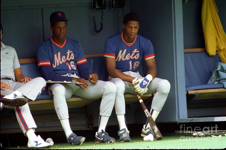 Dwight Gooden and Darryl Strawberry Photograph by George Gojkovich