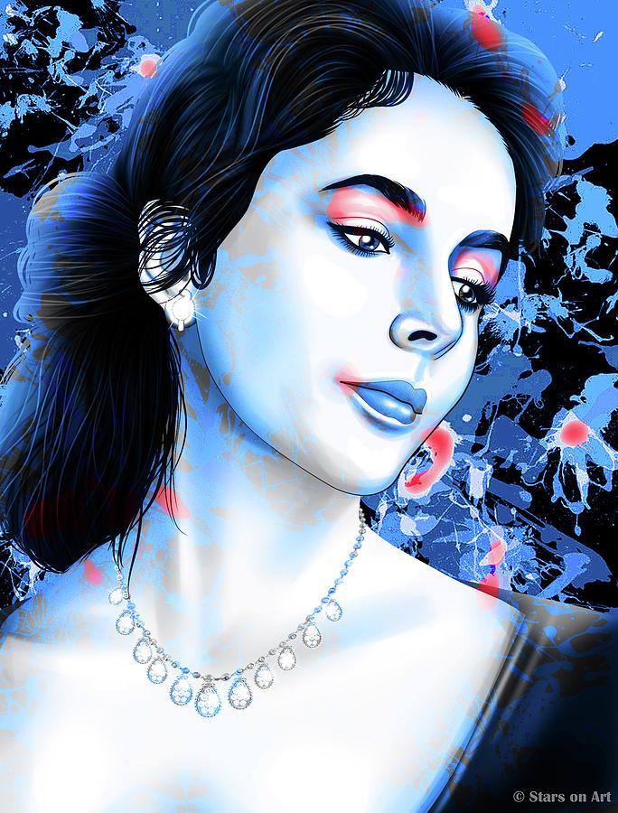 Elizabeth Taylor by Stars on Art