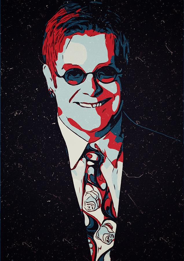 Elton John Painting - Elton John Artwork by New Art