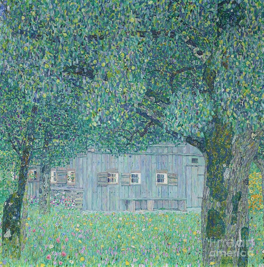 Gustav Klimt Painting - Farmhouse in Upper Austria, 1911 by Gustav Klimt