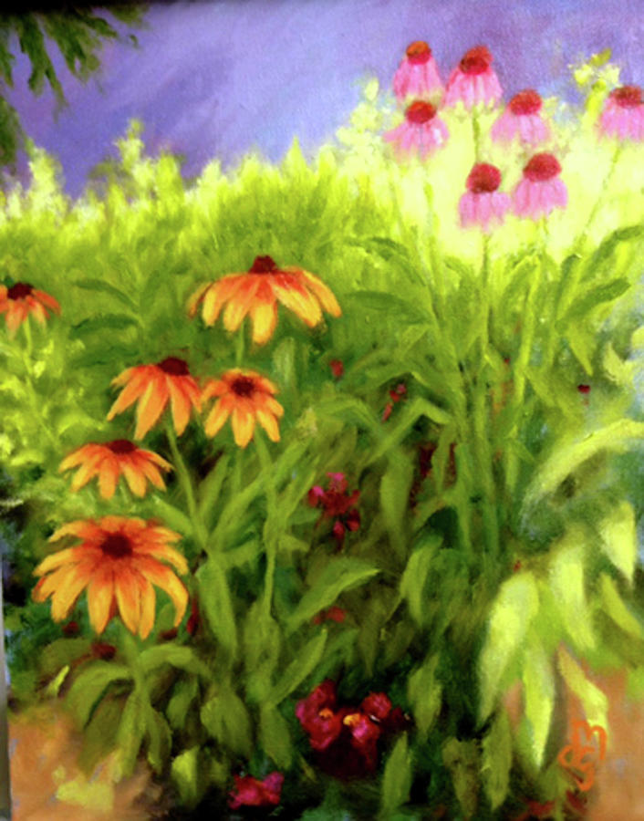Wildflowers Painting - Field Of Flowers by Diane Martens