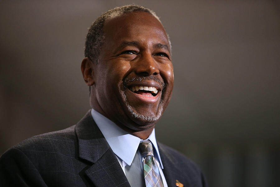 GOP Presidential Candidate Ben Carson Campaigns In Colorado Day After Partys Third Debate Photograph by Justin Sullivan