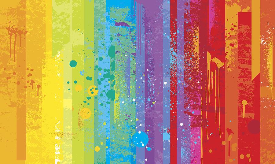 Grunge rainbow background Drawing by Enjoynz