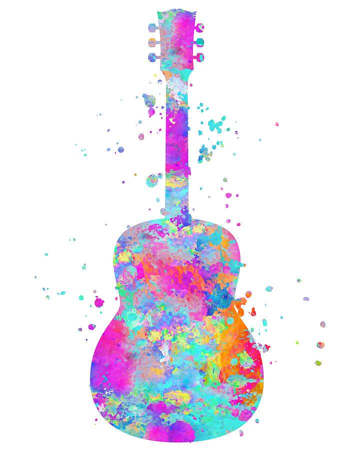 Guitar Painting - Guitar Art by Zuzi s