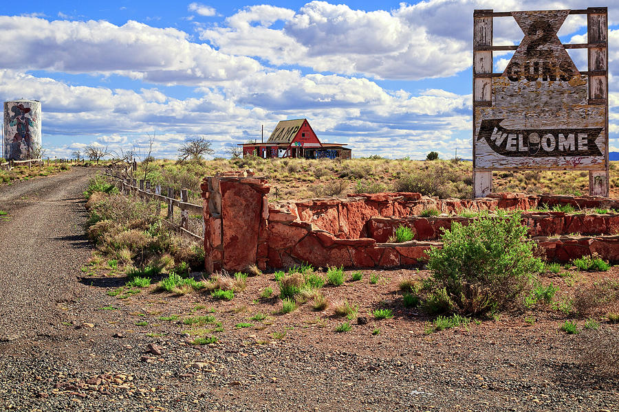 Arizona Photograph - 2 Guns Camp Park by Jack and Darnell Est