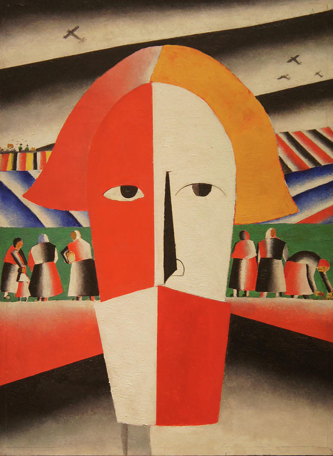 Kazimir Malevich Painting - Head of a Peasant by Kazimir Malevich