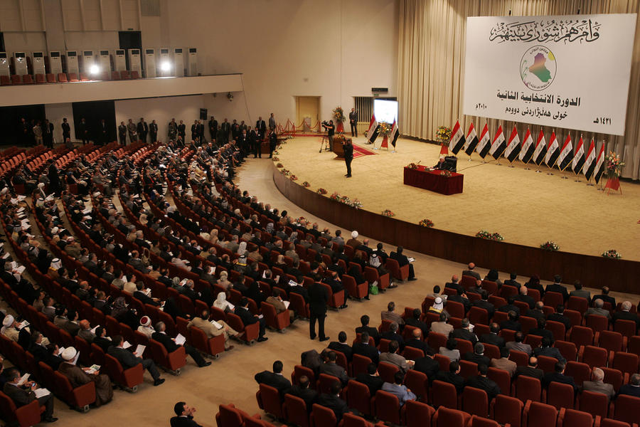 Iraq Parliament Convenes Following Inconclusive Election Photograph by Muhannad Falaah
