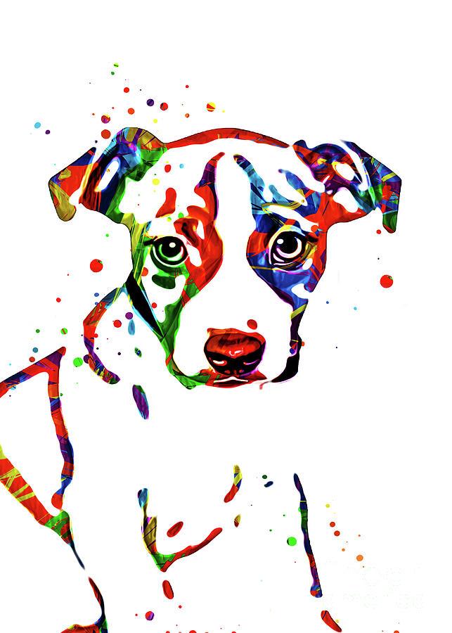 Dog Digital Art - Jack Russell Art by Ian Mitchell