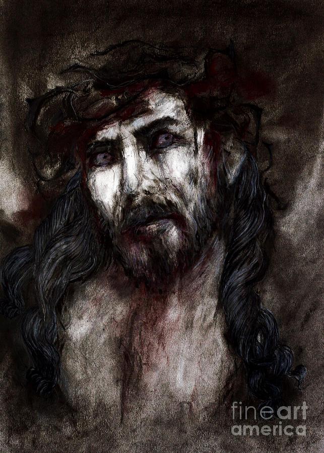 Jesus Pastel - Jesus by Jenni Mitkovic