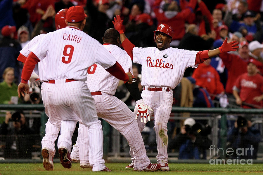 Jimmy Rollins Photograph by Nick Laham