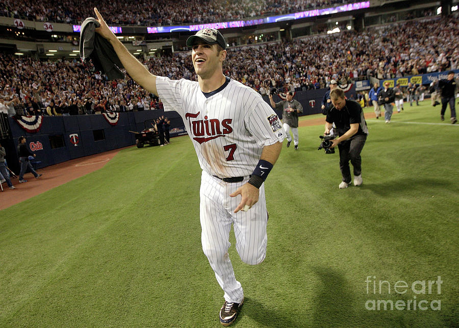 Joe Mauer Photograph by Jamie Squire