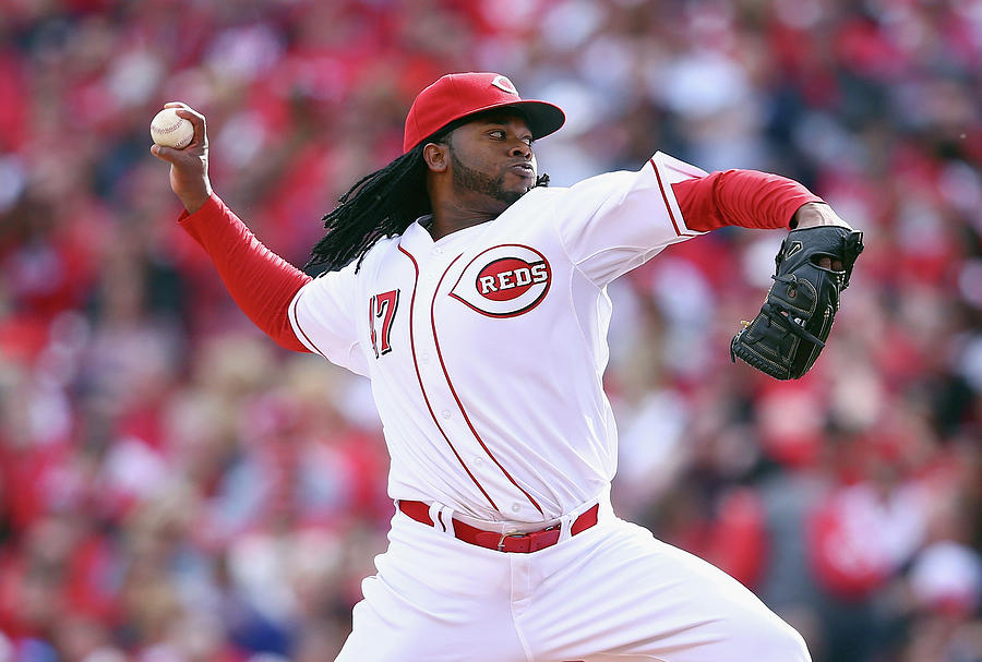 Johnny Cueto Photograph by Andy Lyons