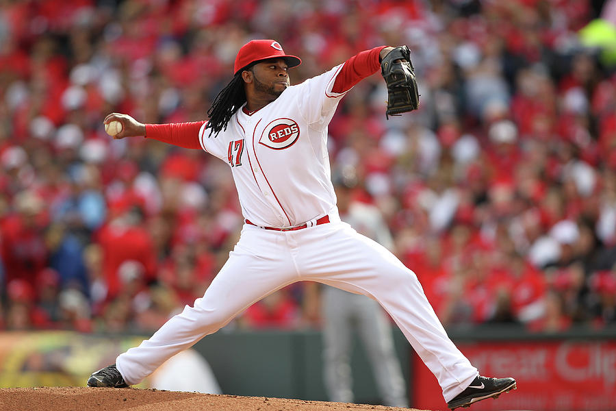 Johnny Cueto Photograph by John Grieshop