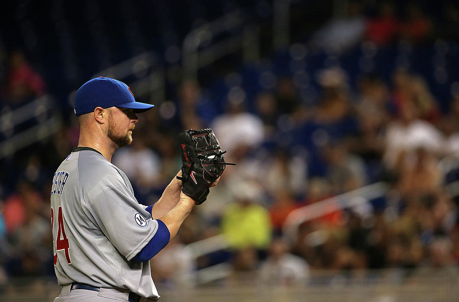 Jon Lester Photograph by Mike Ehrmann