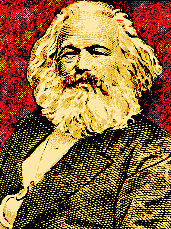 Karl Marx Digital Art by Unexpected Object