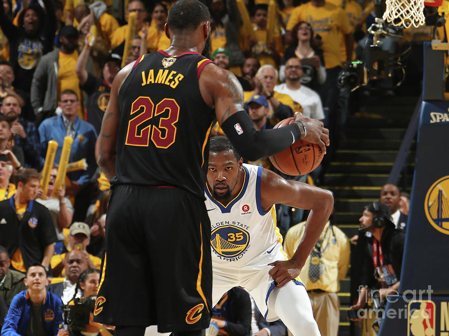 Kevin Durant and Lebron James Photograph by Nathaniel S. Butler