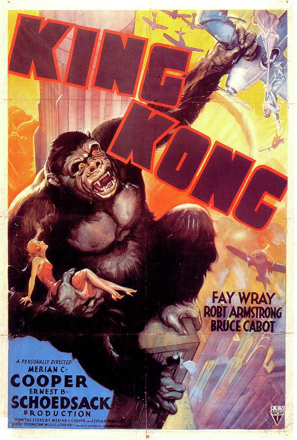 king Kong Movie Poster 1933 Mixed Media