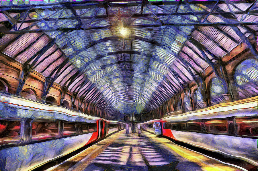 Kings Cross Rail Station Van Gogh Photograph