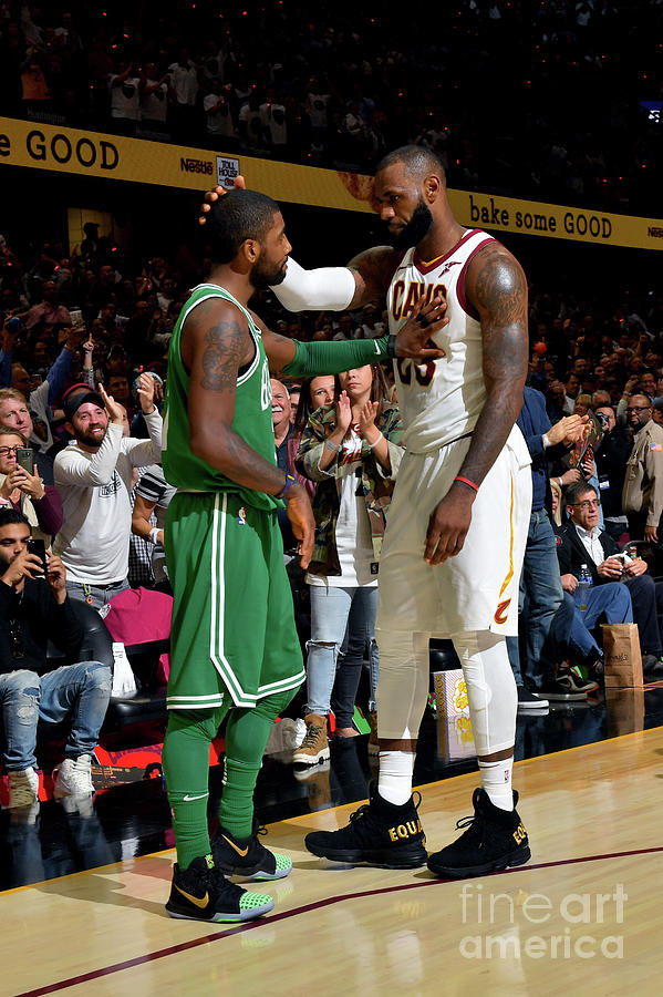 Kyrie Irving and Lebron James Photograph by Jesse D. Garrabrant