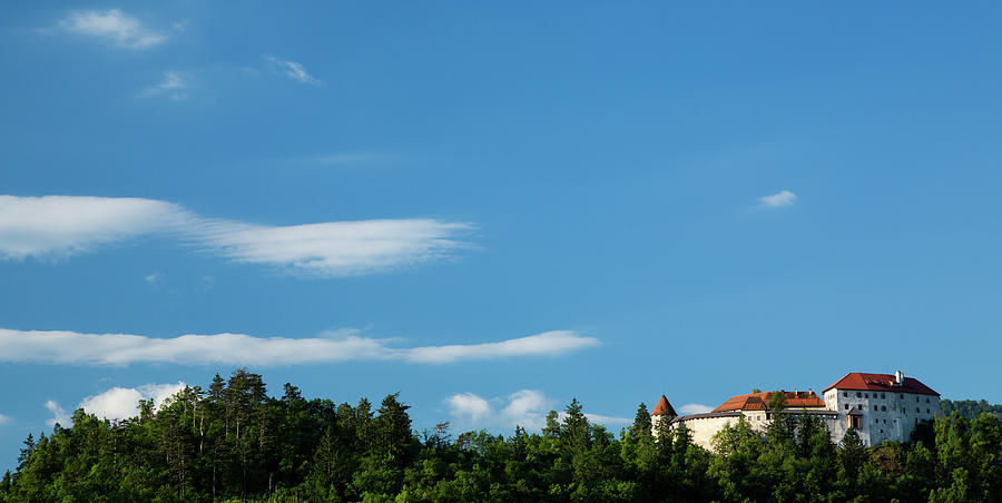 Lake Bled castle by Ian Middleton