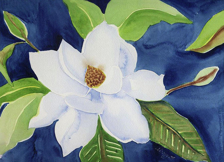 Magnolia Painting by Janet Doggett