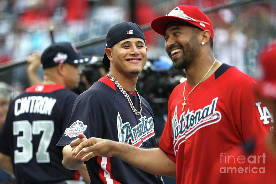 Manny Machado and Matt Kemp Photograph by Patrick Smith