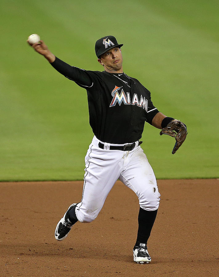 Martin Prado Photograph by Mike Ehrmann