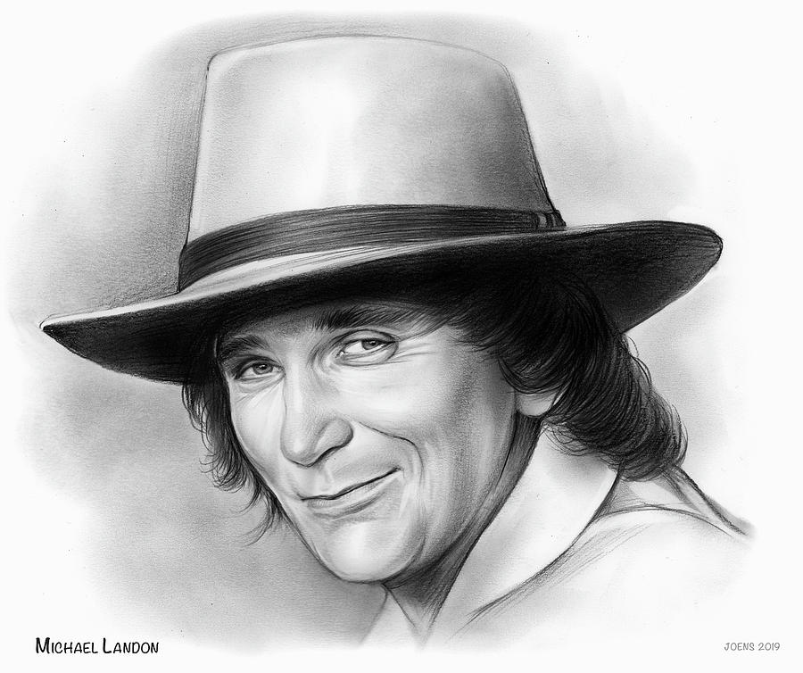 Michael Landon Drawing