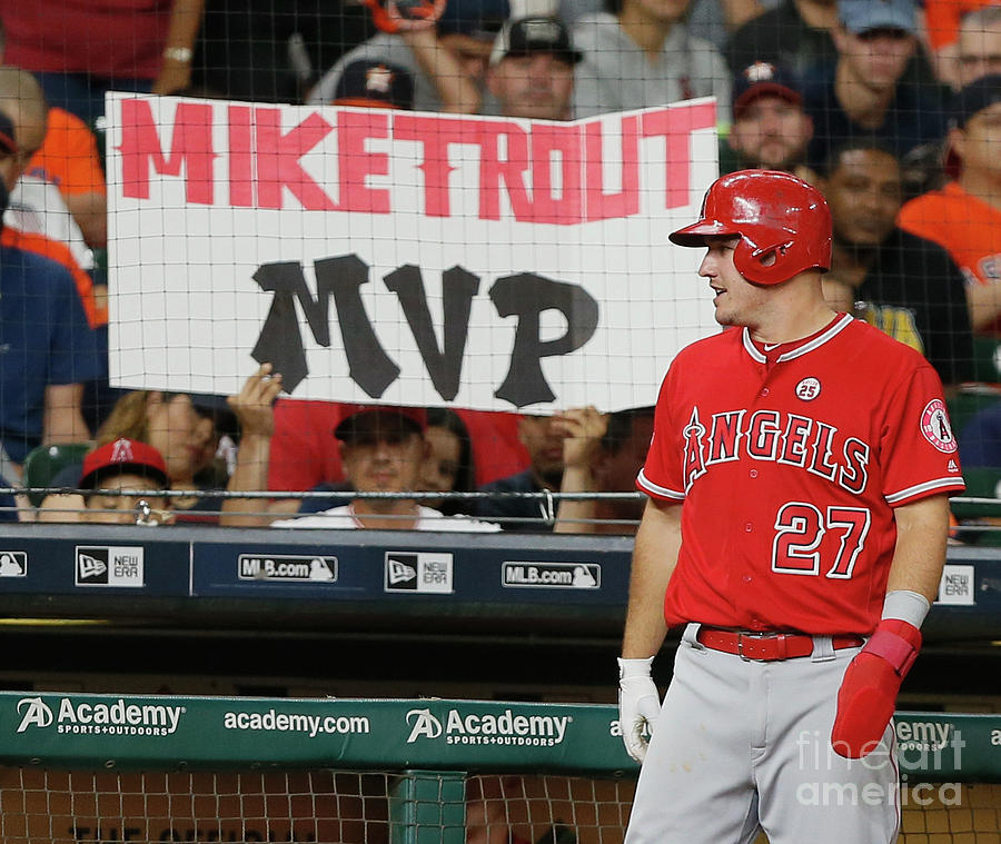 Mike Trout Photograph by Bob Levey