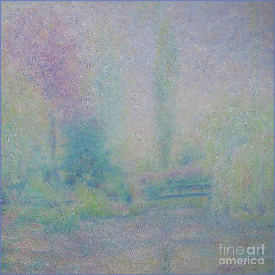Dappled Light Painting - Monets Garden April Rain in Giverny by Felipe Adan Lerma